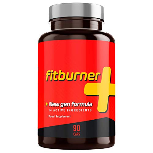 Fitburner+   Brûleur de Graisse Puissant avec 14 Ingrédients Actifs et Naturels   Extra Fort   Pour Hommes et Femmes   90 Gélules Végétales