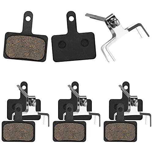 WIFUN 4 Paar Fahrrad Bremsbeläge, Fahrrad Bremsbeläge Set Scheibenbremsbeläge Breit 4mm für Shimano M315 M355 M375 M395 M416 M446 M447 M475 M515 M525 M575 USW mit Splitter und Riegel