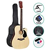 """Alpha Electric Acoustic Guitar 41"""" Inch Wooden Classical w/Pickup Capo Tuner Bass"""