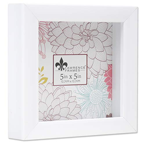 Lawrence Frames Shadow Box Frame, 5x5, White