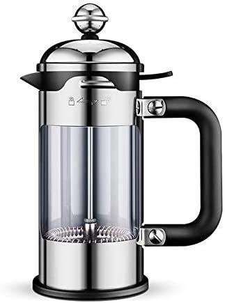 NCRD Francuska prasa stalowa ekspres do kawy ze stali nierdzewnej z systemem filtracji, brakiem kawy, bez rdzawy, prasa do kawy Łatwy do czyszczenia wytrzymałego szkła odpornego na ciepło