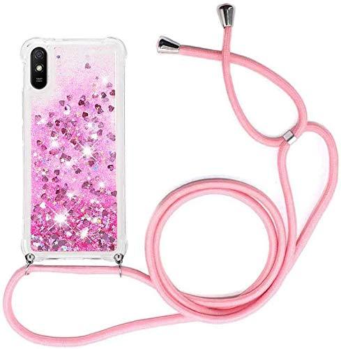 youmehe Carcasa Transparente de TPU Cristal Silicona para Xiaomi Redmi 9A,Glitter Cristal...