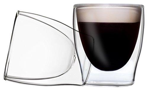 DUOS 2X 80ml Set doppelwandige Espresso Gläser mit Schwebe-Effekt by Feelino