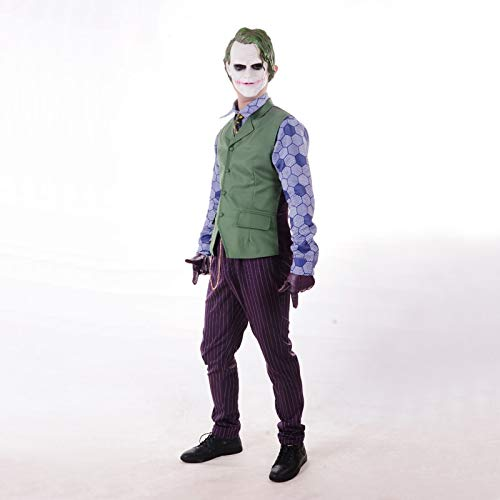 Batman The Dark Knight Rises Joker Cosplay Uniform Suit Men's Halloween Costumes Carnival Fancy Party Costume Custom Made XS