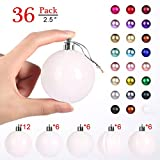 GameXcel Christmas Balls Ornaments for Xmas Tree - Shatterproof Christmas Tree Decorations Large Hanging Ball White 2.5' x 36 Pack