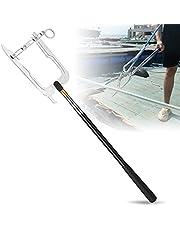 DriSubt Boothaak, gemakkelijk lange afstand Threader, multifunctionele dockhaak voor docking telescopische Moor boottrekker Tie Rope Hook Tool Boot Hook Pole voor thuis en buiten
