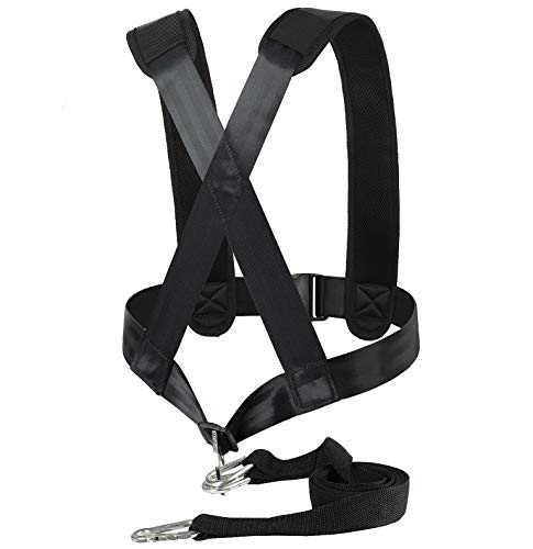 Aedericoe Sled Harness Tire Pulling Harness Resistance Speed Training Trainer with Pull Strap