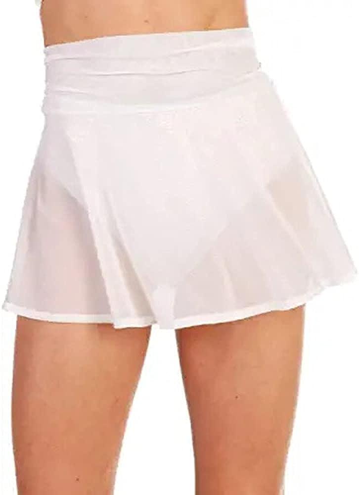 NP Women High Waist Mini Skirts Summer Solid Color See Through Fishnet Short