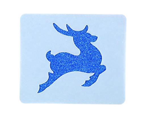 Prancer Reindeer Face painting stencil 6cm x 7cm lavabile e riutilizzabile