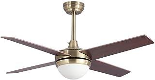 Lampara ventilador TORNADO LED cuero satinado en oferta.
