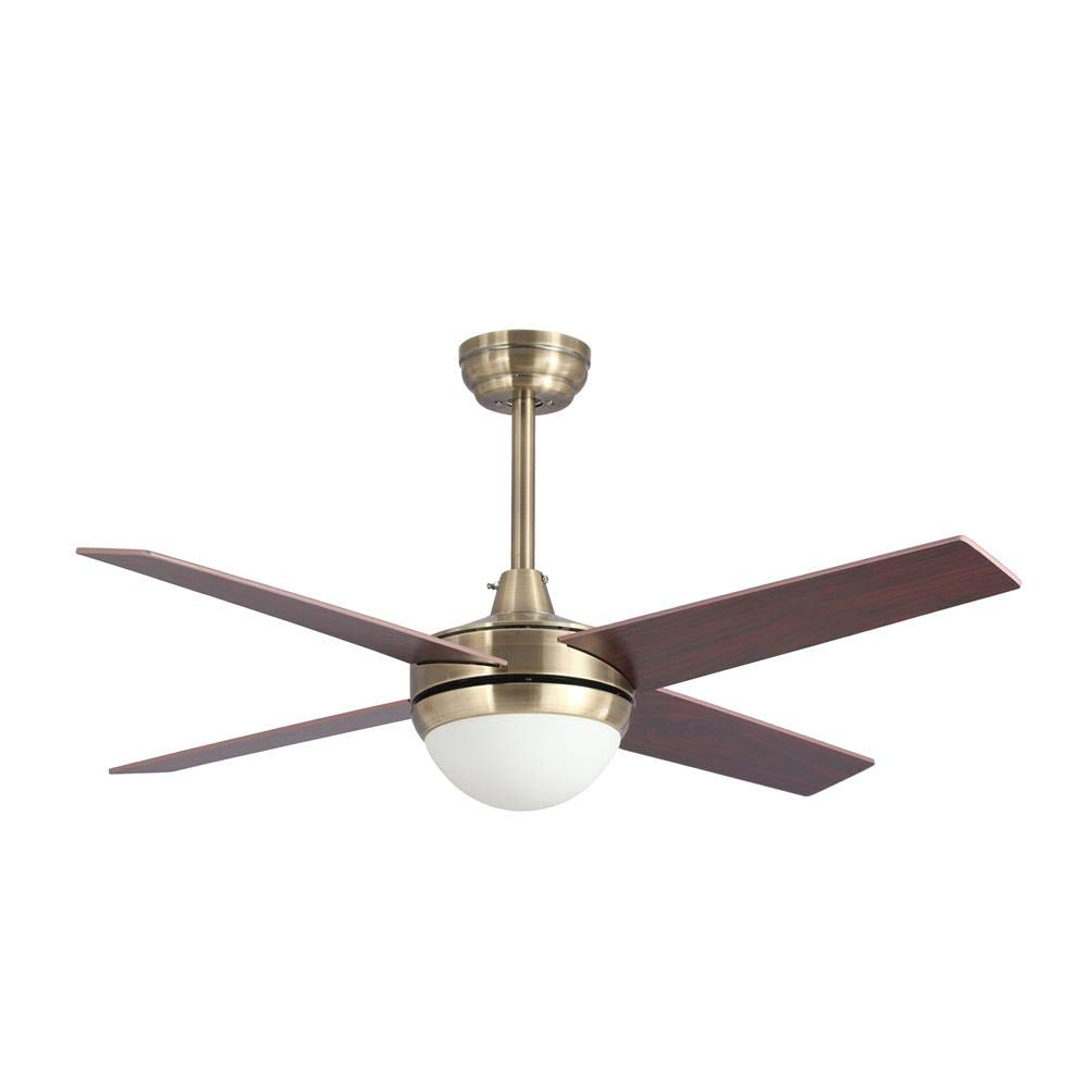 Lampara ventilador TORNADO LED cuero satinado en oferta.: Amazon ...