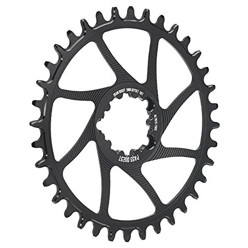 Platos Para Bicicletas Caining MTB Bicicleta de carretera 3 mm Placas de ancho estrechas estrechas Bicicleta Cainado 28T 30T 32T 34 36T 38T Placa huecada Plato Ovalado 32 Mtb ( Color : Round 34T )