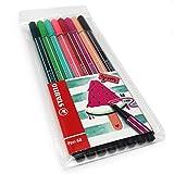 STABILO Pen 68 - Bolígrafo de punta de fibra (1,0 mm, juego de sandía, cartera de 8 colores)