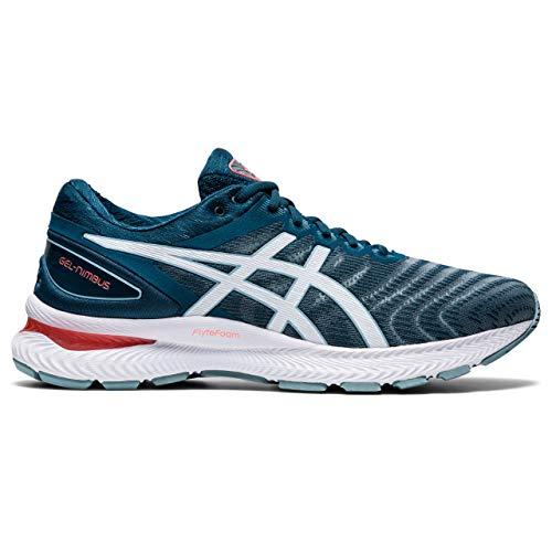 Asics Gel-Nimbus 22, Sneaker Mens, Light Steel/Magnetic Blue, 44.5 EU