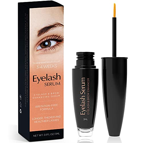 Natural Vine Eyelash and Brow Growth Serum, Irritation Free Formula, Guaranteed Results in 3-4 Weeks for Longer, Thicker, and Fuller Eyelashes