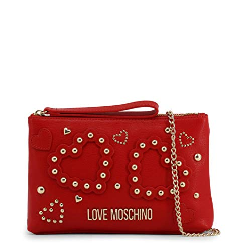 Love Moschino Damen Jc4033pp1a Handgelenkstasche, Rot (Rosso), 4x16x25 centimeters