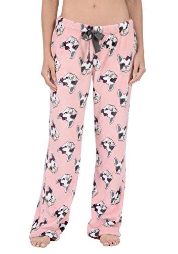 Body Candy Women#039s PJs Cozy Fleece Plush Pajama Pants Bull What Large
