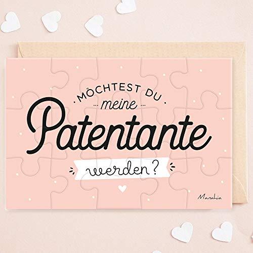 Puzzle Patentante | Möchtest du meine Patentante werden ? | Geburt - Taufpatin fragen - Patentante fragen - Geschenke für Patentante - Schwangerschaft verkünden