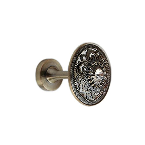 YING CHIC YYC Set of 2 Hollow Out Drapery Medallion Holdback Curtain Wall Hook (Bronze)