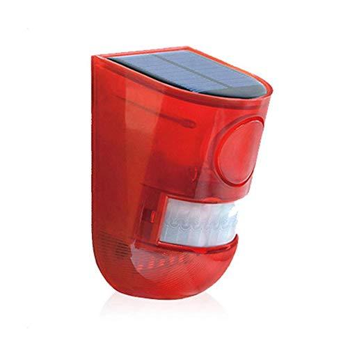 Sirena de alarma de cuerpo humano de inducción de alarma de cuerpo humano y alarma de quemador solar