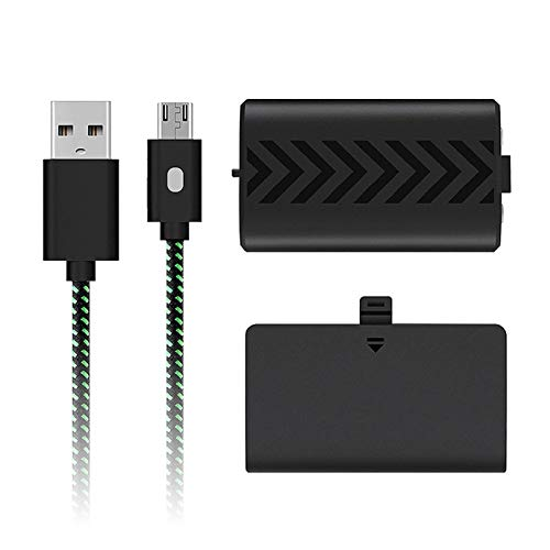Teckey Cargador del Controlador Compatible con El Controlador Xbox One S/X, Correa LED Actualizada, Paquete De Batería Recargable De Alta Capacidad, Protección Actual, Pequeño Y Fácil De Transportar