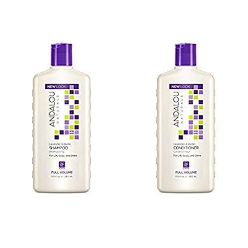 Andalou Naturals Lavender & Biotin Full Volume Shampoo + Conditioner