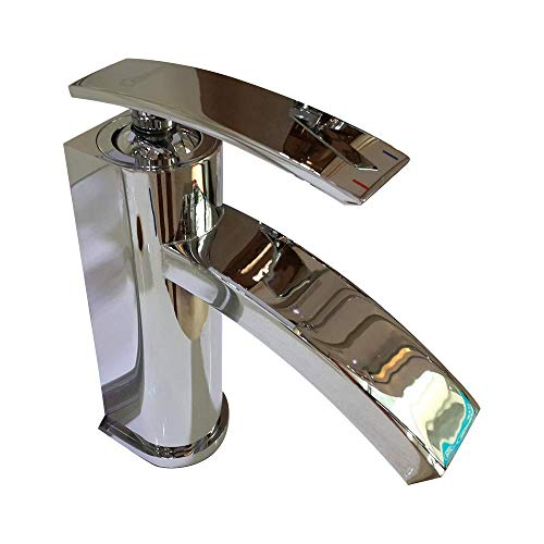 XUXUWA Faucet, Faucet Faucet Bright Silver One-Handle Modern Bathroom Faucet Daily Use, Durable