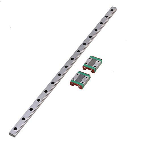 CNBTR L20 cm MGN12 Miniatur-Lager-Stahl-Leitung, linear, Gleitschiene und 2 Schiebeblöcke für 3D-Drucker, CNC-Teile, silber, M6170911047