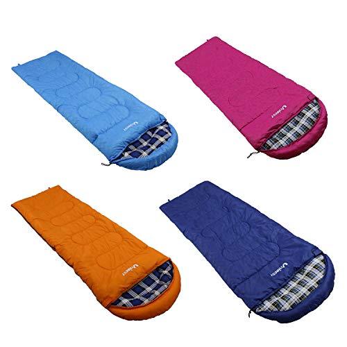 Unibest Schlafsack Deckenschlafsack mit Kopfteil NS70 Baumwolle Innen (dunkelblau Verschluss rechts)