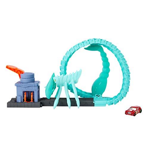 Hot Wheels City Scorpion Attaque Toxique avec looping articulé, coffret de jeu à connecter avec circuit et pistes, voiture incluse, jouet pour enfant, GTT67