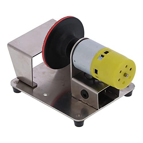 Amoladora de disco eléctrica, máquina de pulir de disco eléctrica de aleación de aluminio Lijadora de madera para plástico para madera para pulir Lijado para vidrio(Normativas europeas)