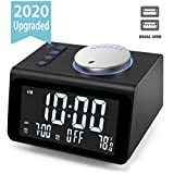 Best Alarm Clock With Radios - 【Upgraded】 Digital Alarm Clock, with FM Radio, Dual Review