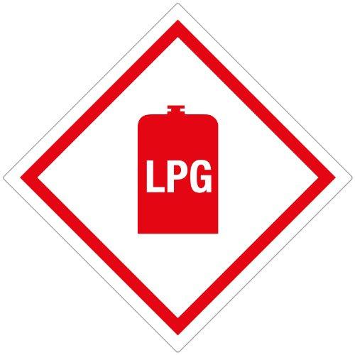 LPG Aufkleber Caravan: Gas Box Tufflex