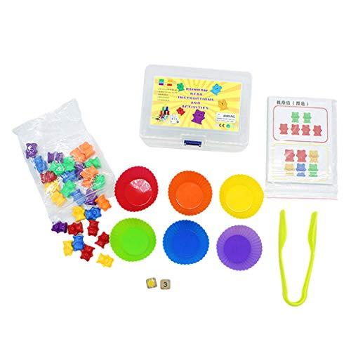 SM SunniMix Niños Contando Clasificación de Osos Kit Juego de Emparejamiento Matemáticas Divertidas Juguetes Educativos