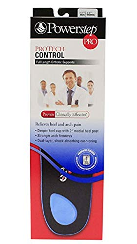 POWERSTEP PROTECH Control Full Length Orthotic Supports Mens & Women's (Men's 7-7.5 / Women's 9-9.5)