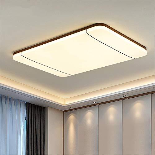 plafondlamp led ultradunne rechthoekige massief houten frame + acryl lampenkap + lenslichtbron, geschikt voor slaapkamer studie restaurant keuken hotel