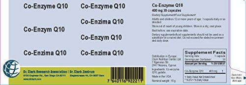 Co-Enzyme Q10, 400 Mg, 30 Capsules