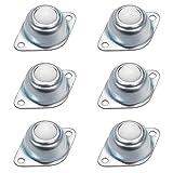 6 Stück Kugelrollen Möbelrollen Nylon Kugelrollenlager Roller Transfer Bearing Ball für Möbel Maschinen Gepäck Schiebe Schlitten Förderrolle