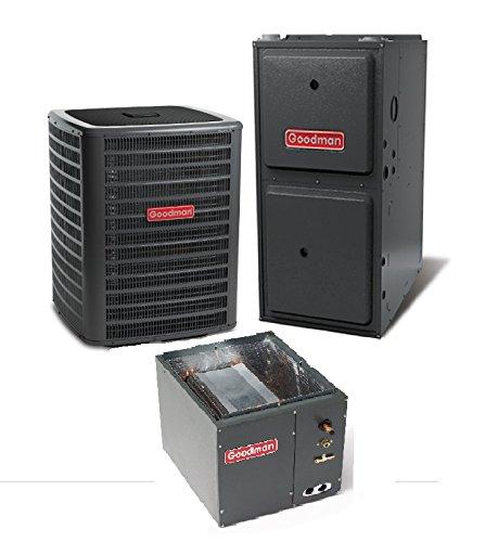 3 Ton 17.5 Seer Goodman 80,000 Btu 96% Afue Gas System - DSXC180361 - CAPF4961C6 - GMVC960804CN - TX3N4