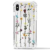 Tybaker - Carcasa para iPhone 11 Pro, iPhone 11 Pro, transparente, fina, silicona, flexible, transparente, con diseño de flores