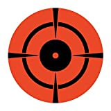 Neon Red Orange 3' Inch Bullseye Shooting Target/250 Targets