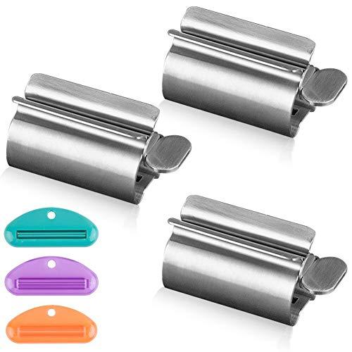 WXJ13 3 Stuks Metalen Tandpasta Tube Squeezer, RVS Tandpasta Squeezer Rollers, Tandpasta Stoelhouder Stand bespaart Tandpasta, Crèmes & Meer voor Badkamer