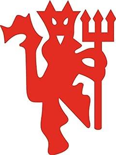 Manchester United Football Club Devil Vinyl Decal Sticker for Wall Decoration car Laptop yeti keypad MacBook Door Window (RED, 3