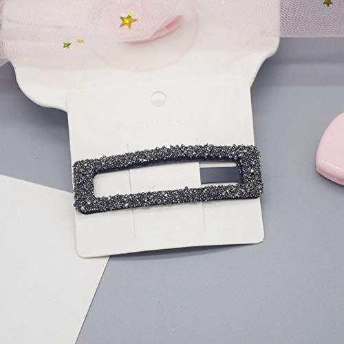 Nieuwe mode vrouwen parel haarspeld Snap haarspeld haarstyling accessoire voor vrouwen meisjes zwart (1)
