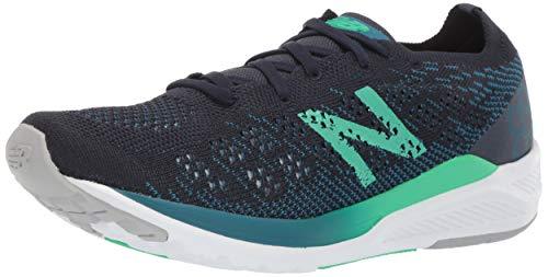 New Balance Women's 890 V7 Running Shoe, Dark Neptune/Eclipse/Neon Emerald, 9.5 M US
