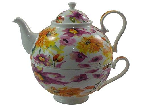 Jameson & Tailor Tea for one - Dekor Sommerwiese - aus Brilliant-Porzellan