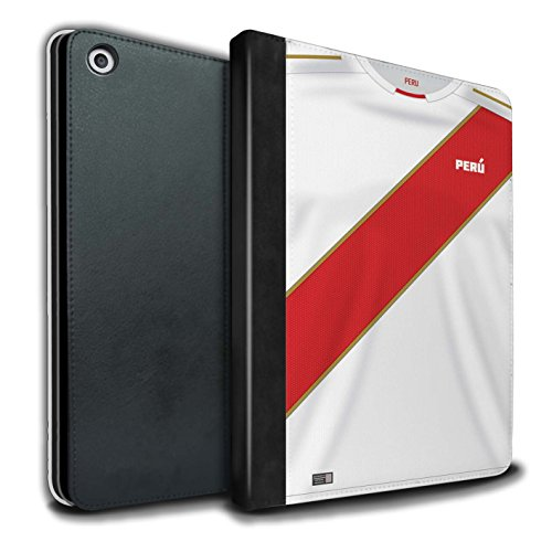 Stuff4® - Funda de Piel sintética para Libros y Camisetas de fútbol de 2018, diseño de la Copa del Mundo Peru/Peruvian Apple iPad 9.7 (2017)