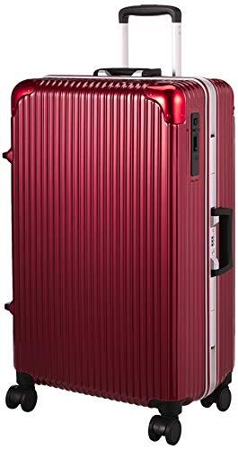 [ヒロディービーシー] フレームエッジ、スーツケース フレームエッジ 保証付 70L 5.2kg レッド