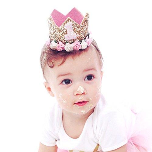 Mystery&Melody Baby Einhorn Stirnband Prinzessin Elastische Stirnbänder Turban Knot Haarband Headwear Kopfschmuck Party Frisur Haarschmuck (1)