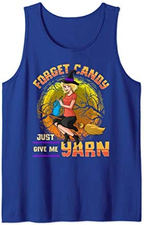 Yarn Lover Sewing Knitting Witch Tank Top product image